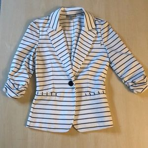 Charlotte Russe Black and White Striped Blazer XS